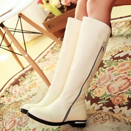 Ericdress PU Side Zip Knee High Boots
