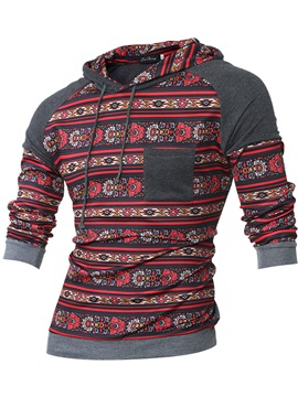 Ericdress Ethnic Style Print Casual Pullover Men's Hoodie