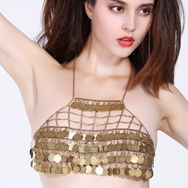 Ericdress Multilayer Coins Tassel Body Chain