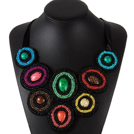 Ericdress Colorful Beaded Pendant Necklace