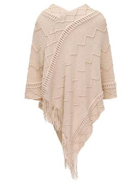 Ericdress Solid Color Asymmetric Tassel Cape