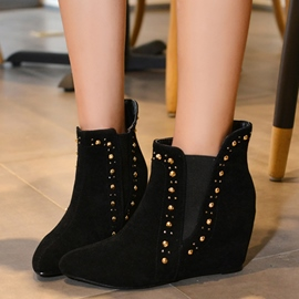 Ericdress Rivets Decorated Point Toe Ankle Boots
