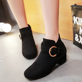 Ericdress Pretty Suede Buckles Ankle Boots