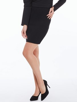 Ericdress Simple Solid Color Knitted Column Skirt