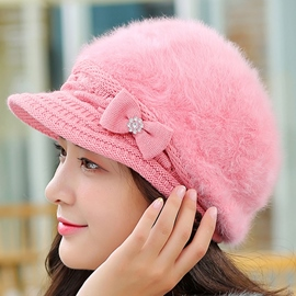 Ericdress Bowknot Embellished Rabbit Hair Women's Hat