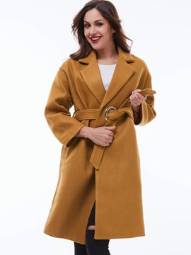 Ericdress Casual Loose Solid Color Coat
