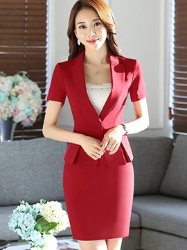 Ericdress Simple Blazer Formal Suit