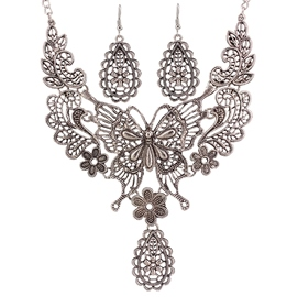 Ericdress Alloy Hollow-Out Butterfly Jewelry Set