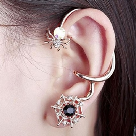 Ericdress Exaggerated Spider Design Ear Cuff
