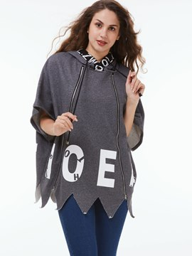 Ericdress Loose Letters Casual Hoodie
