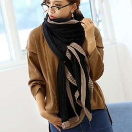 Ericdress New Style Pleated Design Cotton Scarf