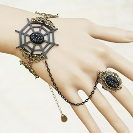 Ericdress Unique Spider Web Design Bracelet with Ring