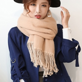 Ericdress Two-Sided Solid Color Long Warm Scarf