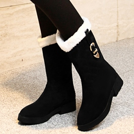 Ericdress Chic Buckles Snow Boots