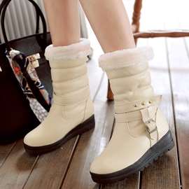 Ericdress Rivets&buckles Snow Boots