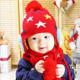 Ericdress Colorful Stars Decorated Kid's Hat & Scarf