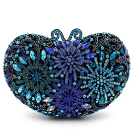 Ericdress Ladylike Blue Diamante Evening Clutch