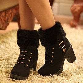 Ericdress Chunky Heel Ankle Boots