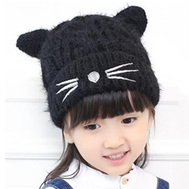 Ericdress Cat Design Child's Knitted Cap