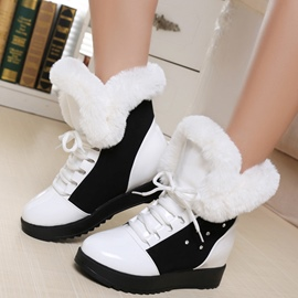 Ericdress Charming Patchwork Lace up Ankle Boots