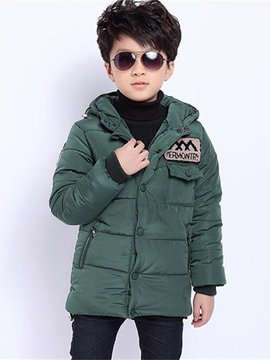 Ericdress Zipper Hooded Boy's Down Coat