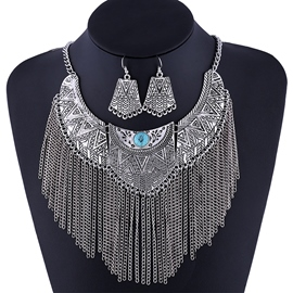 Ericdress Exaggerated Alloy Tassels Jewelry Set