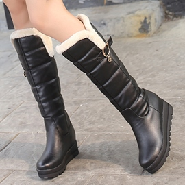 Ericdress Pretty PU Slip on Thigh High Boots