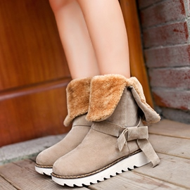 Ericdress Lovely Bowknot Mid-calf Snow Boots