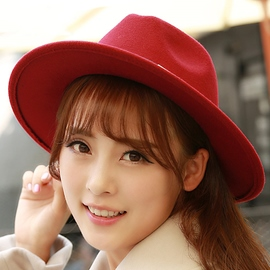 Ericdress Double Leather Rope Design Fedora Hat