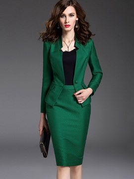 Ericdress Vintage Bodycon Skirt Formal Suit