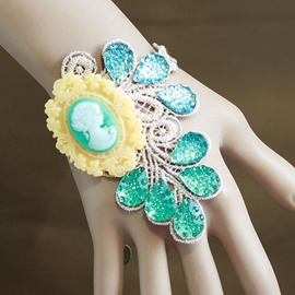 Ericdress Retro Sparkling Crystal Lace Bracelet