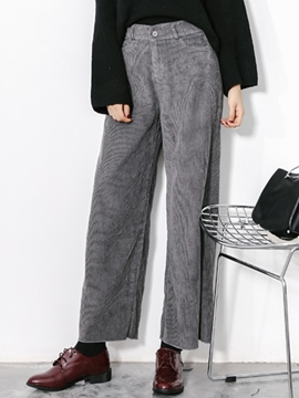 Ericdress Cotton Loose Wide Legs Pants