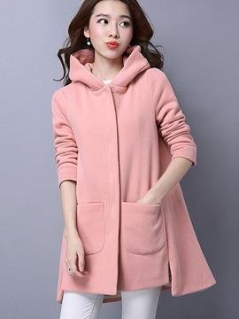 Ericdress Solid Color Pocket Loose Casual Hoodie