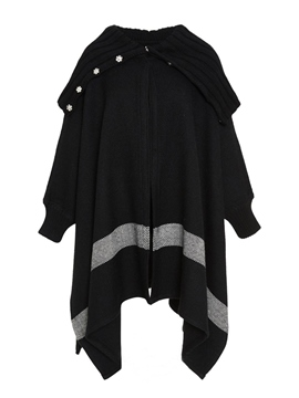 Ericdress Asymmetric Color Block Knitwear