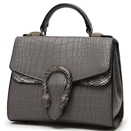Ericdress Temperament Croco-Embossed Patchwork Handbag
