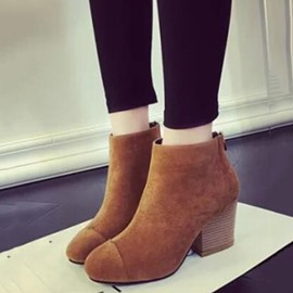 Ericdress Ladylike Suede Round Toe Martin Boots