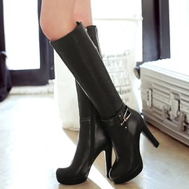 Ericdress Elegant PU Platform Thigh High Boots