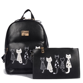 Ericdress Vogue Cat Embroidery Handbags(2 Bags)