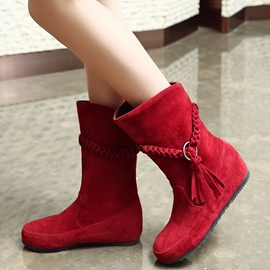 Ericdress Stylish Suede Tassels Ankle Boots