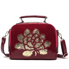 Ericdress Hollow Sequins Rose Handbag