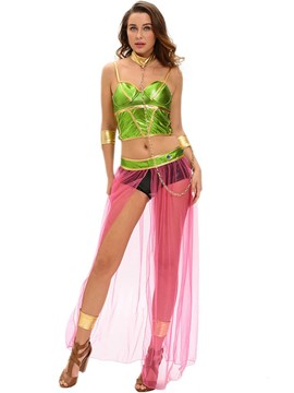Ericdress Color Block Patchwork Mesh Sexy Halloween Costume