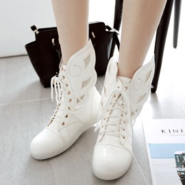 Ericdress Shining Wrings Decorated Ankle Boots