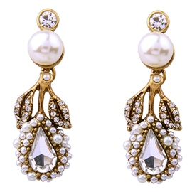 Ericdress Pearl & Rhinestone Inlaid Earrings