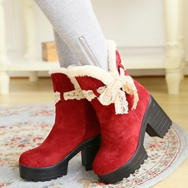 Ericdress Sweet Lace Bowknot Ankle Boots