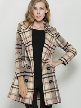 Ericdress European Plaid Coat