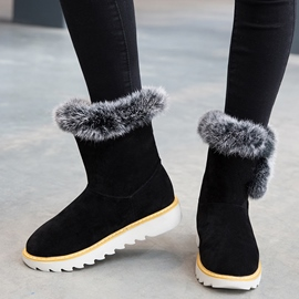 Ericdress Suede Snow Boots with The Fur