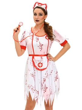 Ericdress Notched Corpse Nurse Cosplay Halloween Costume