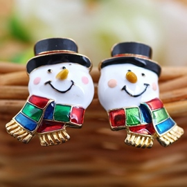 Ericdress Cute Snowman Earrings