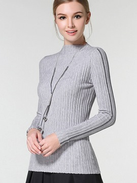 Ericdress Line Detail Slim Knitwear