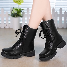 Ericdress Popular Round Toe Lace up Ankle Boots